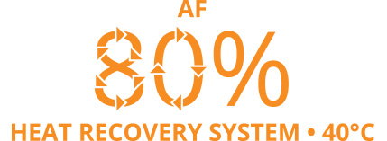 AF 80% heat recovery system 40°C