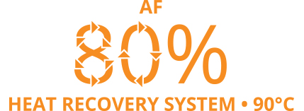 AF 80% heat recovery system