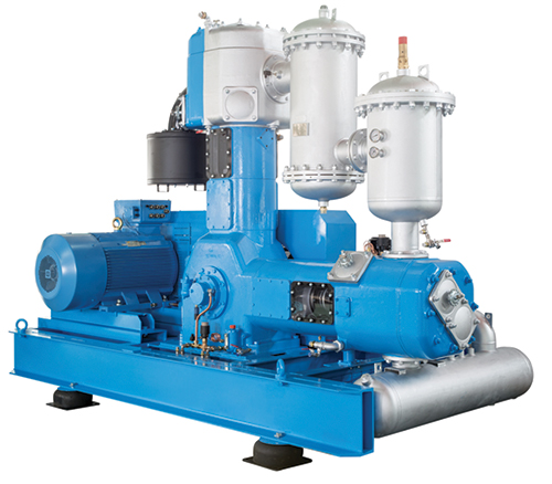 Oil free 2 stage piston compressor