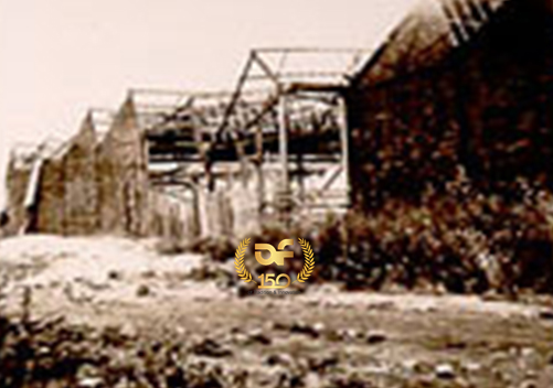 Destroyed factory in 1944,