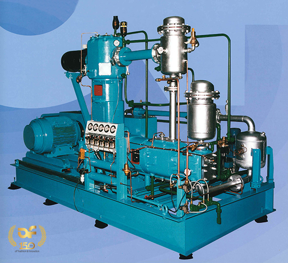 Oil free piston air compressor,